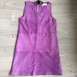 81 Hours Purple sleeveless Suede Shift Dress XS